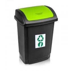 Kosz do segregacji śmieci 25l. zielony